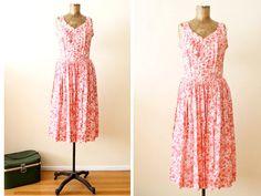 vintage sundress / pink floral dress/ 60s Spring by MILKTEETHS, $89.00 #milkteeths #vintage #spring #dress #sundress #60s #pink