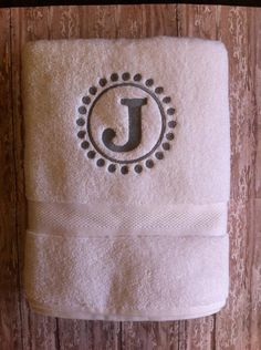 I have this circle. Monogramed towel!