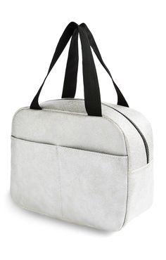 Metallic Silver Extra Large Vanity Bag Primark, Vanity Bag, Buy Gift Cards, Girls Pajamas, Girls In Leggings, Boys T Shirts, Baby Accessories, Girls Shoes, Silver