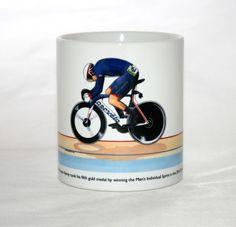 Cycling Mug. Bradley Wiggins, Rio Olympics 2016, Handmade Items, Handmade Gifts, Cycling, How To Draw Hands, Christmas Gifts, Mugs, Mug