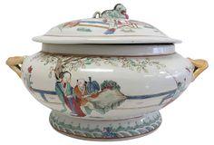 Famille Rose Chinese Export Soup Tureen on OneKingsLane.com