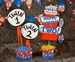 Dr. Seuss Thing 1 & Thing 2 Twins Personalized Table Centerpiece