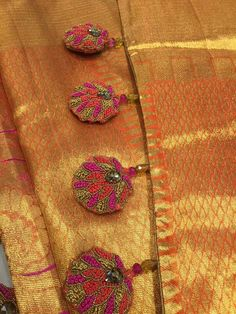 An excellent way to make your kanjeevaram Saree look more elegant .