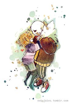 Sans and frisk - Flowerfell
