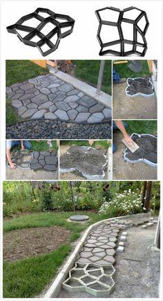Garden Paving Concrete Mold.Coupon code :Happyday07#garden#discount#