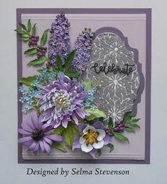 Selma's Stamping Corner and Floral Designs: Garden Club Floral Arrangement Purple Flowers, Paper Flowers, Butterfly Bush, Elizabeth Craft, Garden Types, Garden Club, How To Make Paper, Floral Designs, Flower Cards