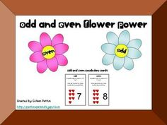 Free!!! With vocab cards!!! Odd & Even unit! 8 pages!!! Makes a great center!