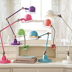 Hi-Light Task Lamp by pbteen.com  Need this type of adjustable lamp for my dtr's dorm room.