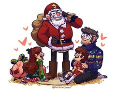 OP: Grunkle Stanta Claus is here to bring Dipper and Mabel some awesome not-stolen, totally legally attained gifts (Stan took Ford's shoes in order to pull that outfit off, which is why he's not wearing any. and Dipper has absolutely no holiday themed clothes whatsoever because he only has like three outfits) (Mabel made Ford's sweater and the lights do, in fact, glow. he was very impressed by this) (Mabel would absolutely go all out with her Christmas outfit don't even deny it) | Gravity…