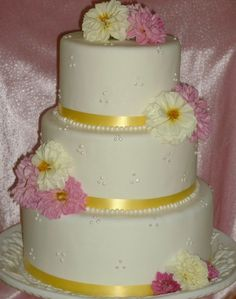 Pink and Yellow Dahlia wedding -