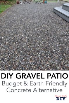 This backyard transformation will leave you amazed. If you're looking for patio ideas on a budget, you have to see this concrete alternative, and these other great DIY ideas for outdoor living. diy patio Beautiful and Affordable DIY Backyard Makeover Concrete Patios, Cement Patio, Pebble Patio, Budget Patio, Patio Diy, Pea Gravel Patio, Large Backyard Landscaping, Landscaping Ideas, Modern Backyard