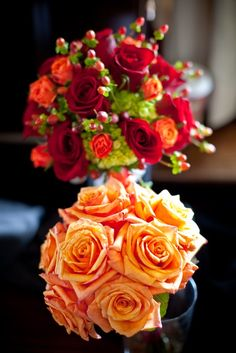 Single toned roses can create a beautiful affect - at a good price.