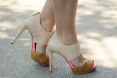 That pop of neon is everything, love the Nordstrom Rack shoe find @Nicole Jean