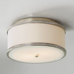 Crystal and Silk Ceiling Light - Small - Shades of Light