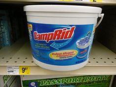 For my someday camper - When storing your pop up, you can put some Damp Rid inside to help prevent it from collecting moisture. This might prevent mildew.