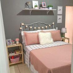 Cute Bedroom Decor, Bedroom Decor For Teen Girls, Room Ideas Bedroom, Small Room Bedroom, Bedroom Colors, Teenage Room Decor, Simple Bedroom Design, Girl Bedroom Designs, Manly Living Room