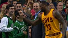 LeBron James provided a huge surprise for a young fan in Boston who was being recognized for a recent MVP award at a Special Olympics event.