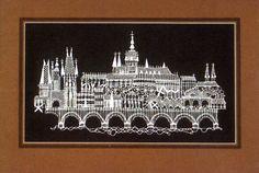Prague. - Bobbin lace (Vamberecká krajka). - Czech Republic Drawn Thread, Thread Work, Needle Lace, Bobbin Lace, Fun Crafts, Diy And Crafts, Cutwork, Prague, Sewing Projects