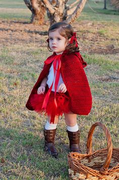 Little Red Riding Hood Halloween Costume Toddler Halloween Costume Children's Halloween Costume Kids Halloween Costume - Halloween Costumes Cute Halloween Costumes, Halloween Kids, Crochet Halloween Costume, Holiday Costumes, Halloween Meninas, Little Red Riding Hood Halloween Costume, Halloween Disfraces, Mardi Gras, Toddler Girl Halloween Costumes