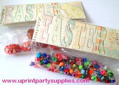 Happy Easter treat bag topper DIY...How to put it together and what you can put in them.....