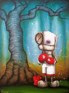 """Worth the fight"" - fabio napoleoni sad art, love illustration, fantasy landscape Gothic Fantasy Art, Arte Robot, Creepy Art, Creepy Dolls, Sad Art, Love Illustration, Fantasy Landscape, Heart Art, Whimsical Art"