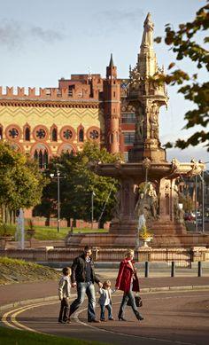 Glasgow Green - The Doulton Fountain - Glasgow. #glasgow2014 #glasgow #scotland www.glasgow2014.com