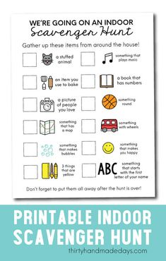 Looking for something fun to do with your kids? I've gathered some simple and fun scavenger hunt ideas to do indoors and outdoors too! Family Game Night, Family Games, Family Activities, Monster Activities, Fun Games, Games For Kids, Preschool Scavenger Hunt, Scavenger Hunts, Boredom Busters