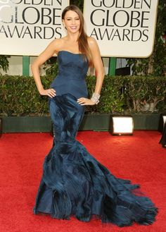 Sofia Vergara in Vera Wang. Golden Globe Awards 2012  No one works a mermaid like Sofia!