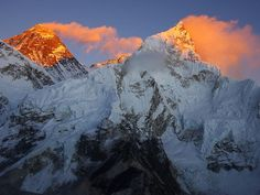 Amazing and Interesting facts about Mount Everest...Mount Everest Mount Everest is the highest mountain in the world with the summit reaching a peak of 29,029 feet (8,848 m). It is located in the Himalayan mountain range on the border between Nepal and Tibet, China.