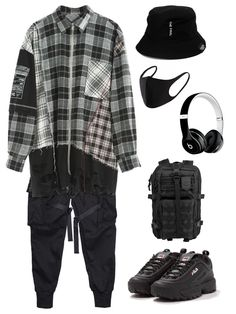 This is giving me jungkook vibes. He probably even worn this. i guess lol Grunge Outfits, Kpop Fashion Outfits, Stage Outfits, Edgy Outfits, Korean Outfits, Streetwear Mode, Streetwear Fashion, Mode Kpop, Bts Clothing