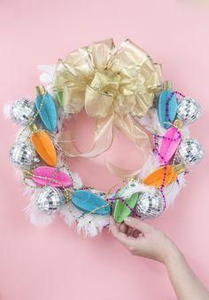 DIY Glamorous, Over-The-Top Christmas Wreath | Dream Green DIY + @orientaltrading #OTCraftyChristmas