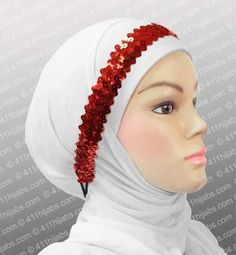 EID Fashion Accessories Online Sequin Headband with elastic in #7 Ruby Red Rouge | eBay