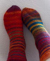 Knitting Patterns Galore - Magic Zauberball Stripe Socks