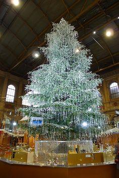 Swarovski Christmas tree, Zurich train station awesome!