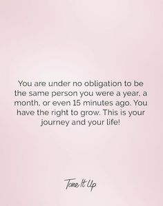 this is your journey and your life