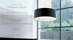 K'Alloy pendente puntoluce gigante em metal com difusor em acrilico