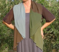 Womens Upcycled Jacket in Forest Colours. $90.00, via Etsy.
