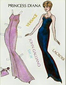 Diana Paper Dolls | Collecting Diana 2011