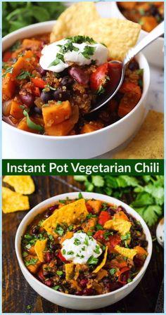 Instant Pot Vegetarian Chili - Detox Soup Cabbage #Instant #Pot #Vegetarian #Chili #Detox #Soup #Cabbage Healthy Recipes, Chili Recipes, Soup Recipes, Squash Chili Recipe, Lunch Recipes, Pasta Recipes, Crockpot Recipes, Dessert Recipes, Muffin Recipes