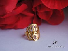 Handcrafted Monogram Ring Personalized by KetiSorelyDesigns