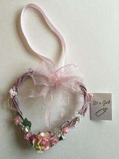 New baby girl heart gift Wedding Bride, Wedding Ideas, Wedding Planning Timeline, Horseshoes, Hanging Hearts, New Baby Girls, Ribbons, Babyshower, New Baby Products
