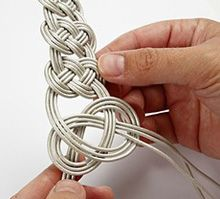Make this - knotted leather bracelet tutorial. I like these, and need to make bracelets for my tiny wrists.
