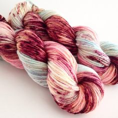 Hand Dyed Yarn  Cherry Blossom  Superwash by aVividYarnStudio