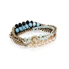 Bead + Chain Multi-Wrap Bracelet by Chloe + Isabel