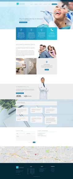 A beautiful, clean and modern healthcare web design. #dentalwebdesign #healthcarewebdesign #webdesign #webdesigninspiration #uxdesign #webdesigner #diseñoweb #diseñadorweb