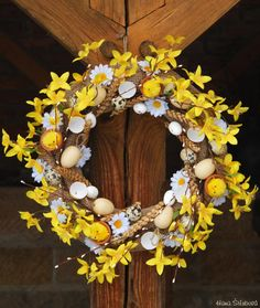 Easter Tree Decorations, Grapevine Wreath, Diy And Crafts, Projects To Try, Jar, Wreaths, Spring, Inspiration, Home Decor