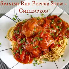 Slow Cooker Spanish Red Pepper Stew (Chilindron)