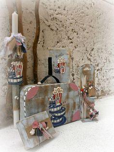 Βαπτιστικό πακέτο για αγοράκι με κουτί βαλίτσα και θέμα ποπ κορν, annassecret, Χειροποιητες μπομπονιερες γαμου, Χειροποιητες μπομπονιερες βαπτισης