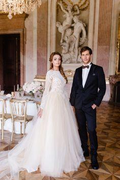Khalissa wedding dress by Oksana Mukha Bridal Gowns, Wedding Dresses, Destination Wedding Planner, Happy Women, Famous Brands, Model, Austria, Brides, Europe