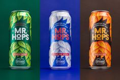 Meet Mr. Hops. An extraordinary Lager crafted for an ordinary day. Designed  by the étiquette design team, this newly founded beverage is designed to  stand out on the shelves amongst its older competitors. Marketed in a tall  aluminium can, Mr. Hops is adorned with a luscious beard made of hops and a  matching toupee. The overall design is striking and has character, making  even someone like myself who dislikes the taste of lager, to reach over a  grab a can.